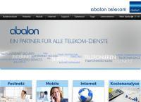 Website von Abalon Telecom IT AG