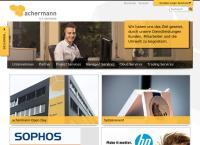 Website von achermann ict-services ag