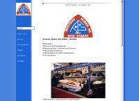 Website von Bootbau Huber AG