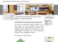 Website von Don Camillo Cantina