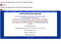 Website von Copycenter W. Weingast