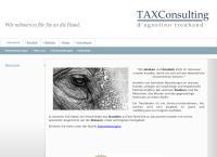 Website von TAXConsulting d'agostino treuhand