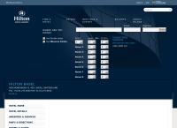 Website von Hilton Basel