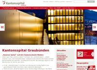 Website von Spitäler Chur AG