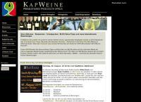 Website von Kapweine GmbH Stefan Flükiger