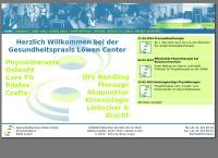 Website von Löwen Center