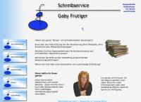 Website von Schreibservice Frutiger Gaby
