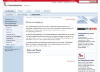 Website von Steuerverwaltung des Kantons Bern