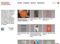 Website von Galleria Edizioni Periferia