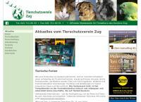 Website von Tierheim Allenwinden / Meldestelle Tsv Zug
