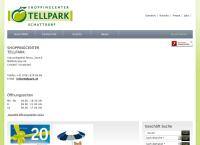 Website von Shoppingcenter Tellpark
