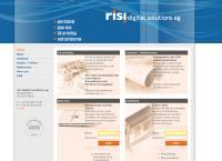 Website von Risi Digital Solutions AG