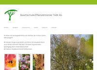 Website von Baumschule / Pflanzencenter Todt AG
