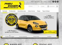 Website von Pneu Egger AG