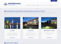 Website von Régie Zimmermann SA