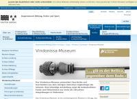 Website von Vindonissa-Museum Brugg