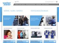 Website von Walter Meier (Klima Schweiz) AG