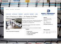 Website von Danis Pneuhaus GmbH