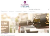 Website von Kellerei St. Georg Einkaufszentrum A1