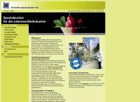 Website von Hostettler Spezialzucker AG