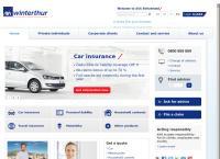Website von AXA Winterthur - Roland Tschanz