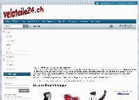 Website von veloteile24.ch